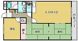 サンアールヨシダ[3階]の間取り