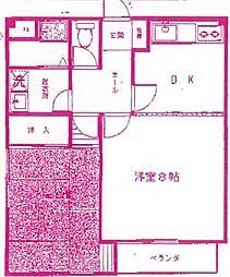 三田ハイツ[2階]の間取り