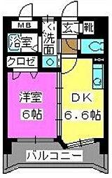 メルベーユ博多[5階]の間取り