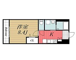 JR内房線 長浦駅 バス13分 笠上橋下車 徒歩4分の賃貸アパート 2階1Kの間取り