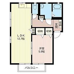 エミネンスコートD[2階]の間取り