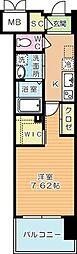 ウイングス西小倉[12階]の間取り