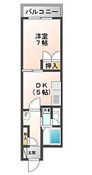 広島県呉市西中央4丁目の賃貸マンションの間取り