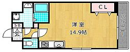 LA・VITAROSA 松栄 2階ワンルームの間取り