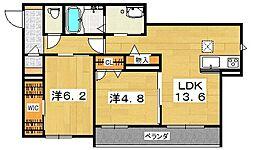 (仮)交野市シャーメゾン倉治[1階]の間取り