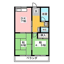 メゾン昭和[2階]の間取り