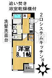 愛知県名古屋市千種区園山町1丁目の賃貸アパートの間取り