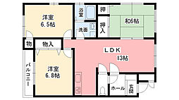 ミニヨンコート[2階]の間取り