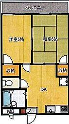 埼玉県新座市新座2丁目の賃貸アパートの間取り