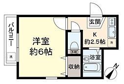メゾンドアミーII[1階]の間取り