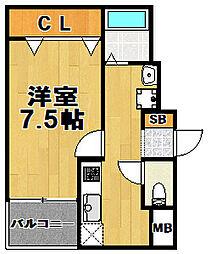 ロイヤルコート[5階]の間取り