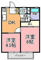KATOハイツ[203号室]の間取り