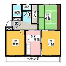 淀川マンション[2階]の間取り