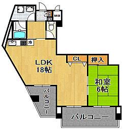 アドヴァンスライフ[7階]の間取り