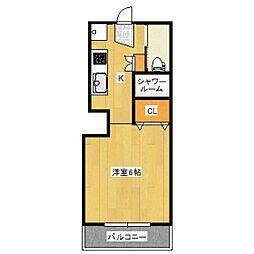 ハイツV[2階]の間取り