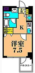 プライマル大井仙台坂[5階]の間取り