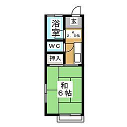 KハイツII[2階]の間取り