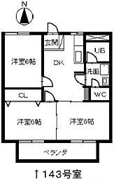 第一マンション丹羽[143号室]の間取り