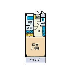 ロイヤルハイツI[1階]の間取り