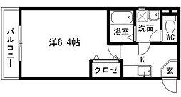 クレフラスト箱崎東II[2階]の間取り
