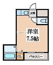 クリエイトパートI[3階]の間取り