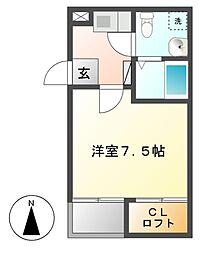 ノヴェル千代田[3階]の間取り