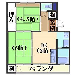 日電京都ハウス[404号室]の間取り