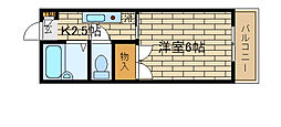 兵庫県神戸市長田区戸崎通2丁目の賃貸マンションの間取り