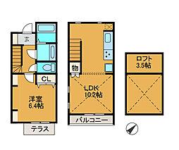 [テラスハウス] 神奈川県相模原市南区上鶴間6丁目 の賃貸【/】の間取り