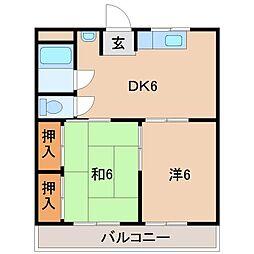 ファミーユ21[3階]の間取り