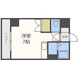 ドエル札幌北11条[6階]の間取り