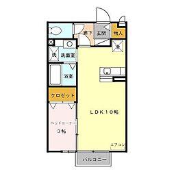 富山県富山市天正寺の賃貸アパートの間取り