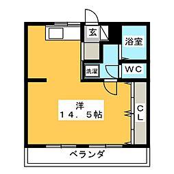 プレステージSakura[2階]の間取り