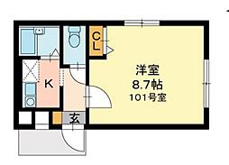 アネックスK[1階]の間取り