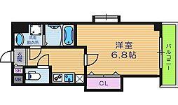 Luxe西田辺[3階]の間取り