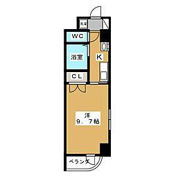 愛知県名古屋市東区泉1の賃貸マンションの間取り