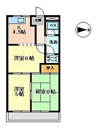 セントラルハイムTAKAHASHI[1階]の間取り