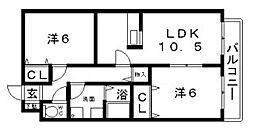 ルミナスコート[3階]の間取り
