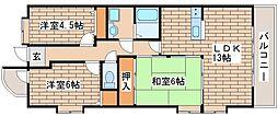 兵庫県神戸市西区玉津町二ツ屋2丁目の賃貸マンションの間取り