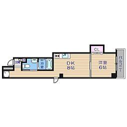 アパートメント谷町[7階]の間取り