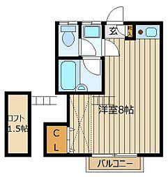 埼玉県ふじみ野市鶴ケ岡3丁目の賃貸アパートの間取り