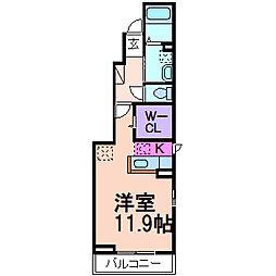 アロハガーデン A棟[1階]の間取り