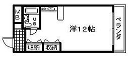 大阪府泉佐野市中町2丁目の賃貸マンションの間取り