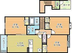 ルシアンサキタ[2階]の間取り