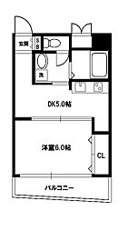 新大阪レジデンス[5階]の間取り