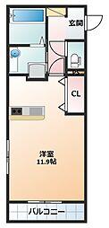 中川原アパート[101号室]の間取り