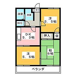 コスモプラザ[2階]の間取り