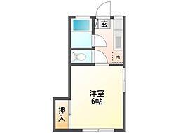 アパートメントめぐみ[2階]の間取り