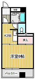 コーポ小見野(坂戸)[0203号室]の間取り