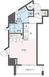 東京メトロ東西線 門前仲町駅 徒歩22分の賃貸マンション 9階1Kの間取り